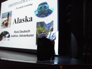 Rick Deutsch speaking aboard an NCL trip to Alaska