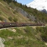 The White Pass Railroad at Skagway, Alaska