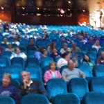 A large theater on an NCL cruise to Alaska.