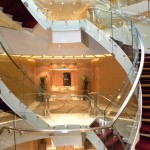 The lobby of the Seabourn Sojourn - luxury.