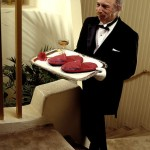 Butlers on many luxury ships.