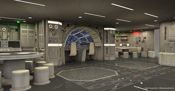 Millenium Falcon on Disney Dream
